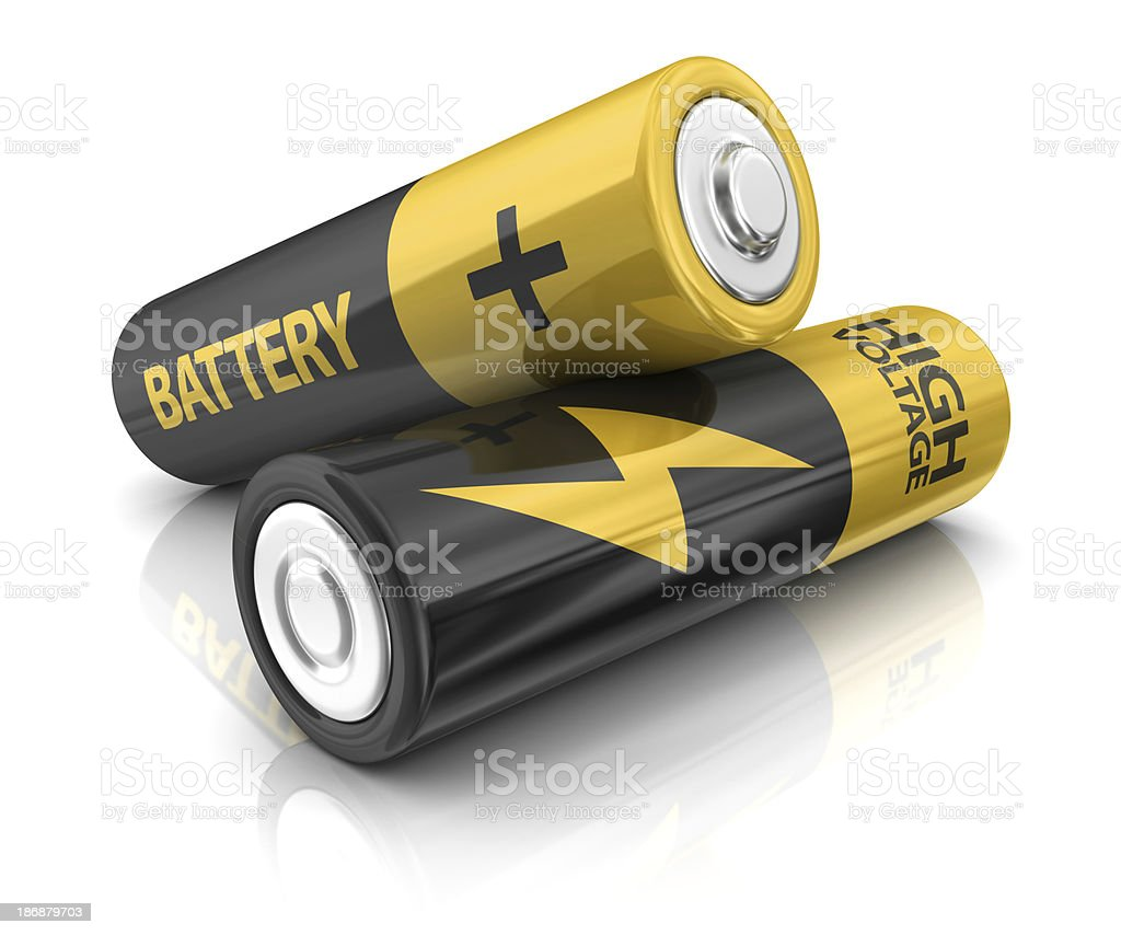 two AA batteries royalty-free stock photo