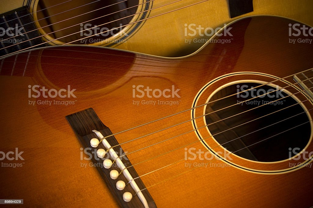 two acoustic guitars royalty-free stock photo