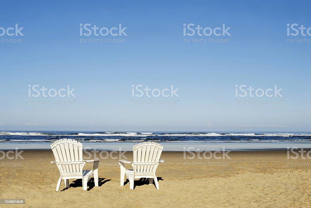 adirondack chairs on beach. Adirondack Chairs On Beach. Plain Beach Two A  Stock Photo To I