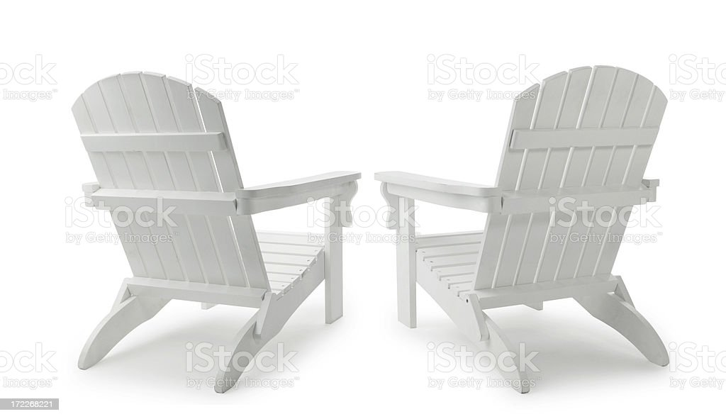 Two Adirondack Chairs stock photo