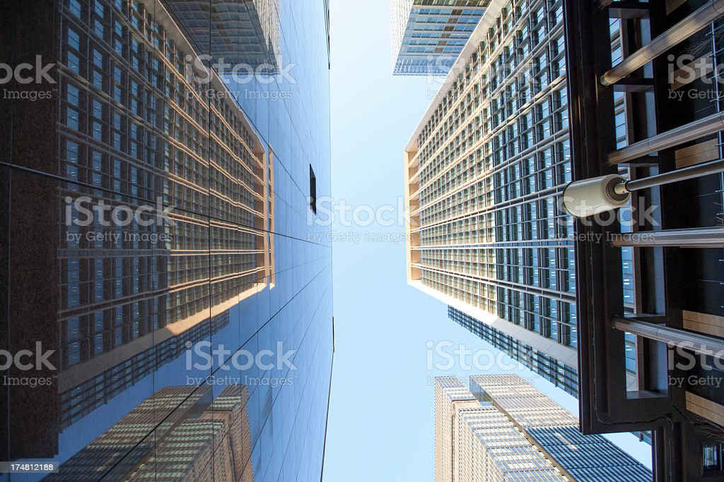 Two adjacent buildings. royalty-free stock photo