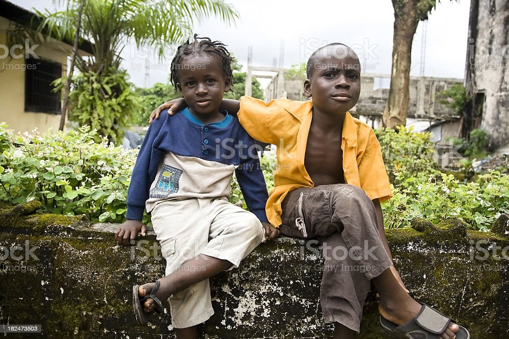 Two African Boys stock photo