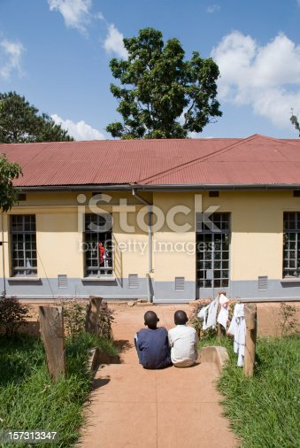 istock Two african boys side by side 157313347