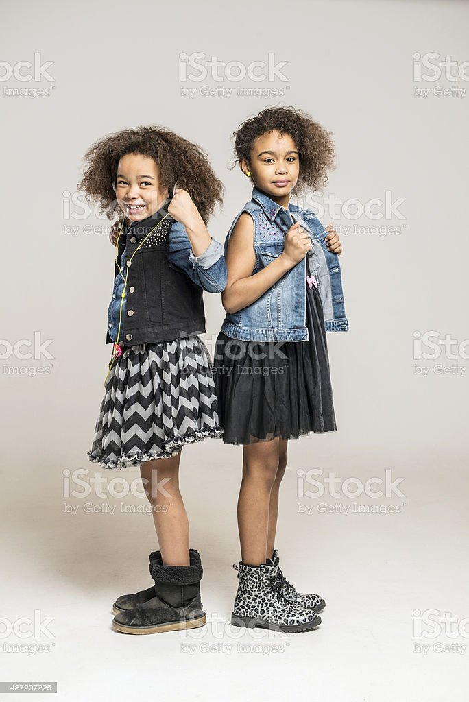 two african children stock photo