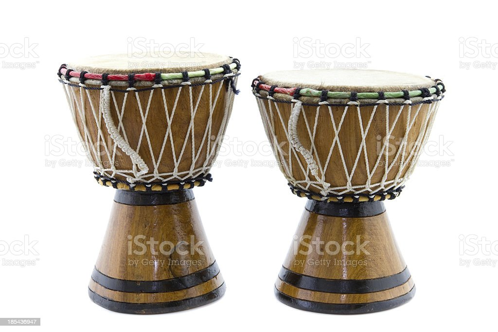 two African drums stock photo
