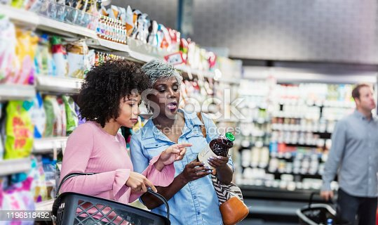 istock Two African-American women in supermarket 1196818492
