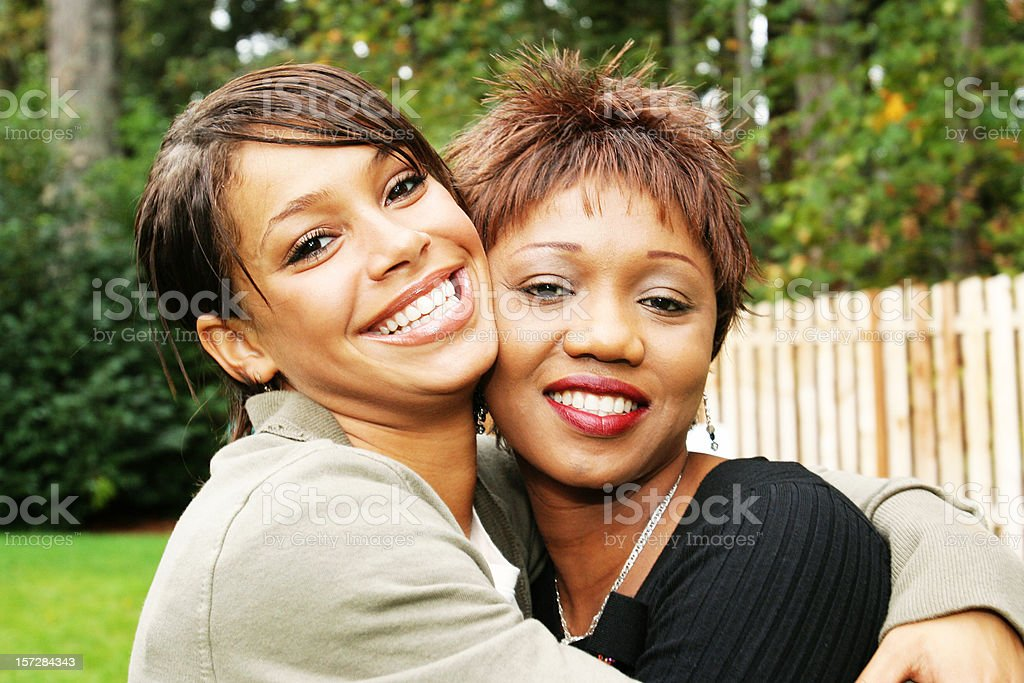 Two Africcan American Female Friends stock photo