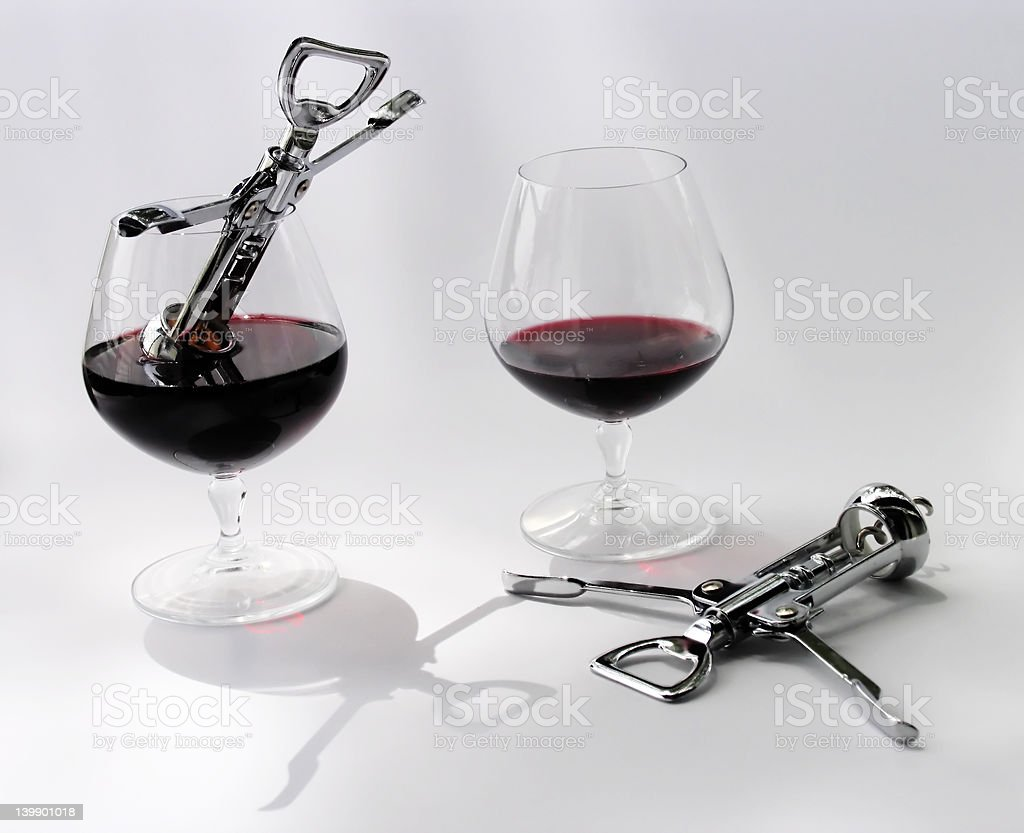 Two alcoholics stock photo