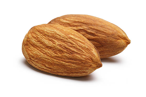 Two Almonds stock photo