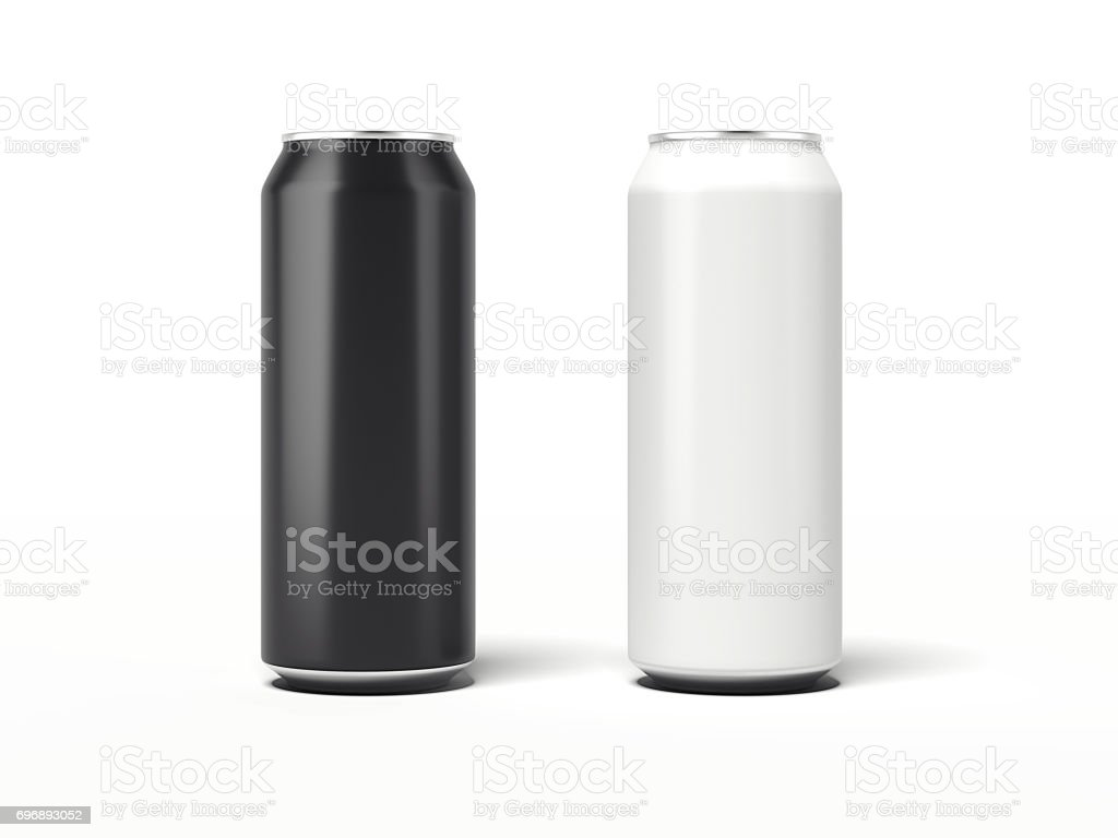 Two Aluminum Can. 3d rendering stock photo
