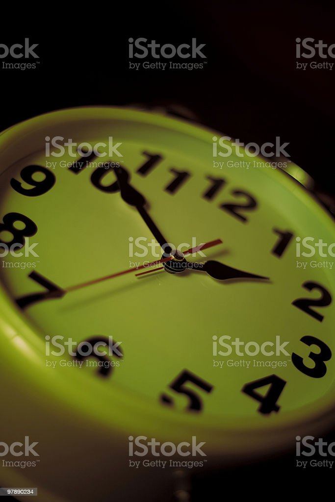 Two AM - Late Night Time Concept royalty-free stock photo