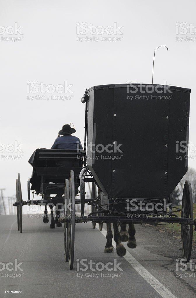 Two Amish Buggies stock photo