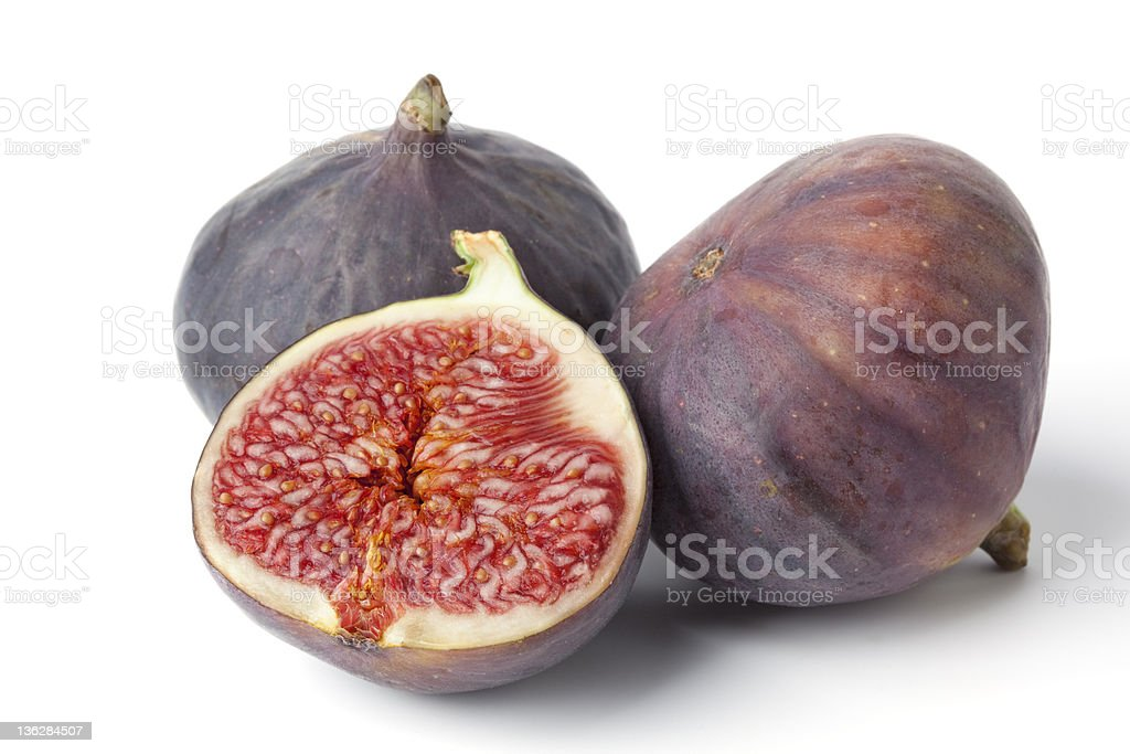 Two and a half fresh figs stock photo