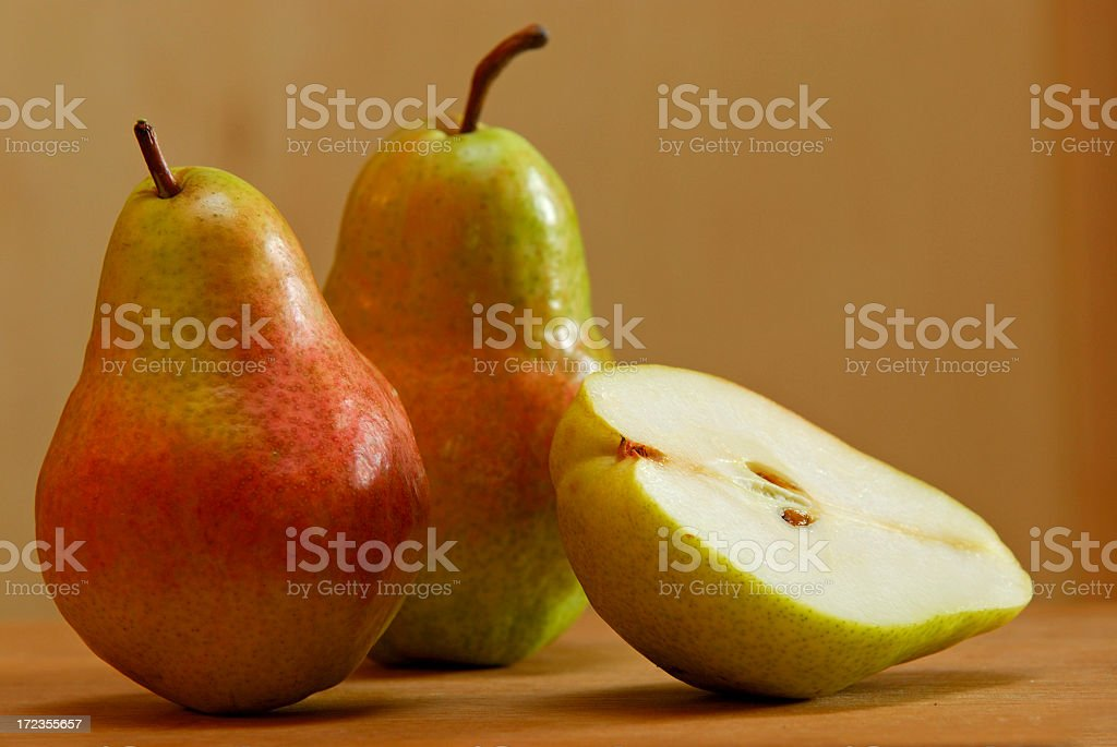 Two and a Half Pears royalty-free stock photo