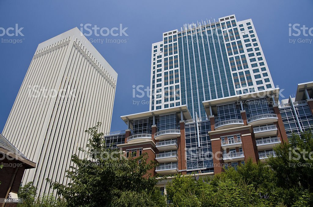 Two and Three Wells Fargo Center royalty-free stock photo