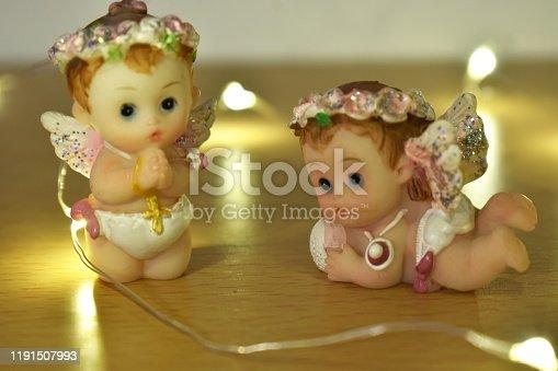 istock Two angel decorations 1191507993
