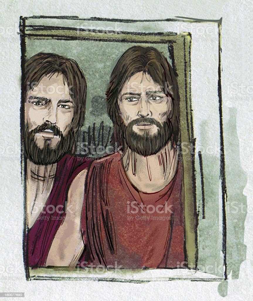 Two Angels of God stock photo