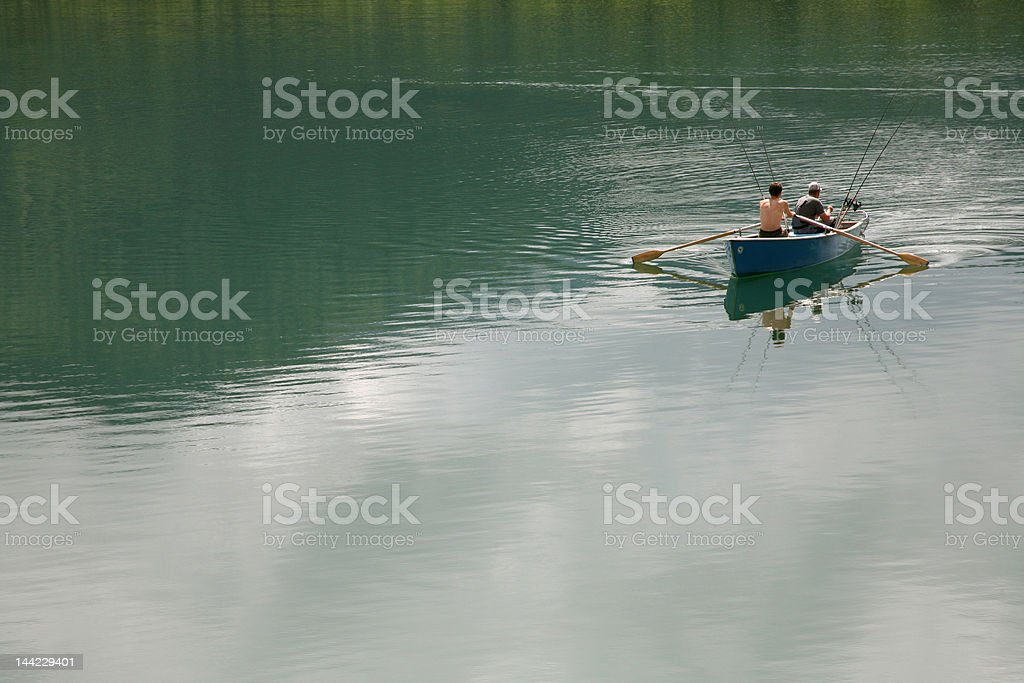 Two anglers royalty-free stock photo