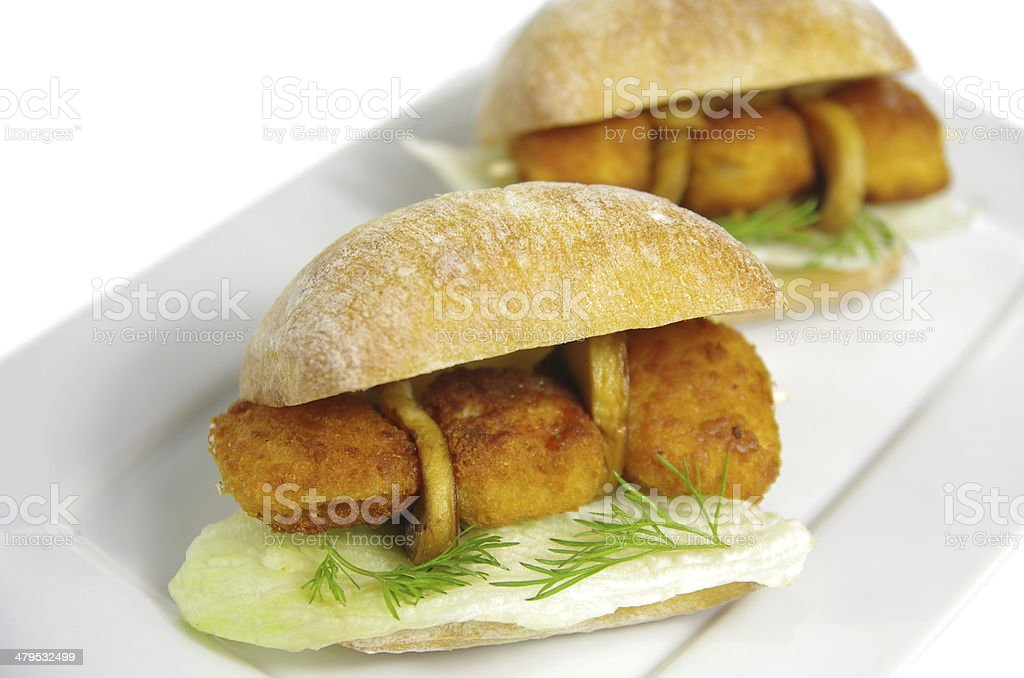 two appetizing sandwiches stock photo