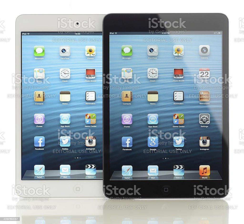 Two Apple iPad Mini royalty-free stock photo
