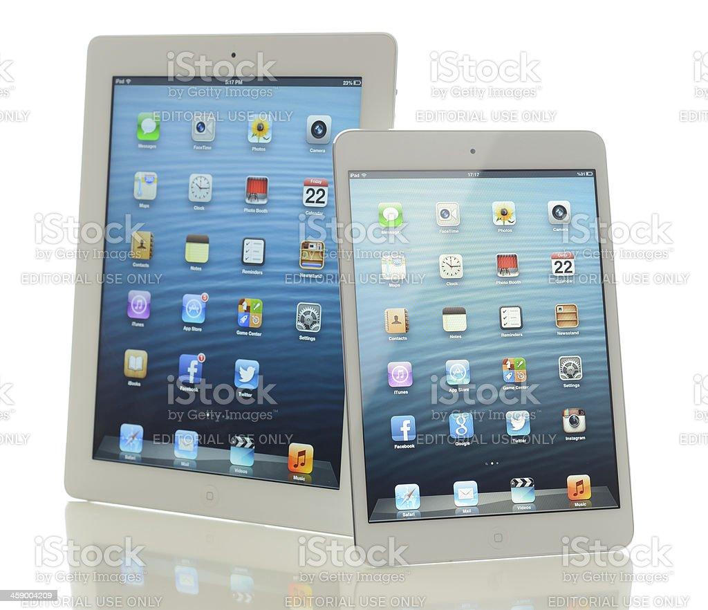 Two Apple iPad royalty-free stock photo