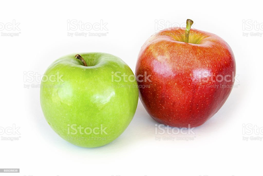 Two apples on white royalty-free stock photo