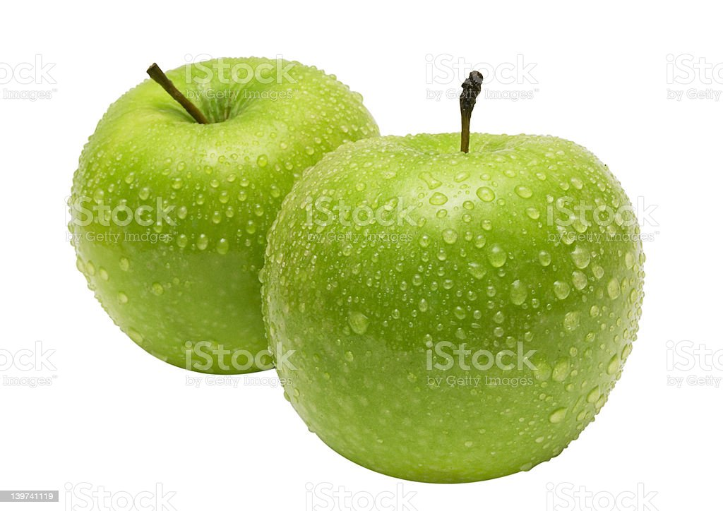 Two Apples w/ Path royalty-free stock photo