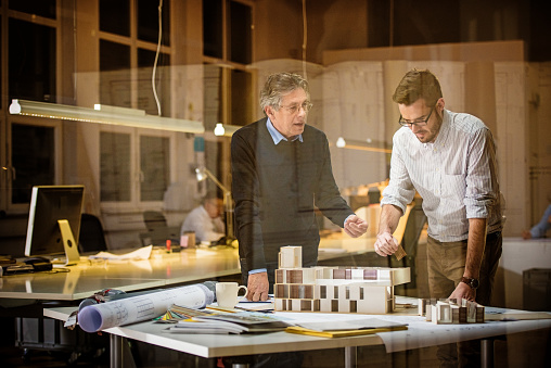 532257236 istock photo Two architects discussing new project 481991894