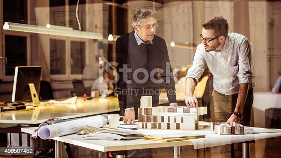 532257236istockphoto Two architects discussing new project 490507452