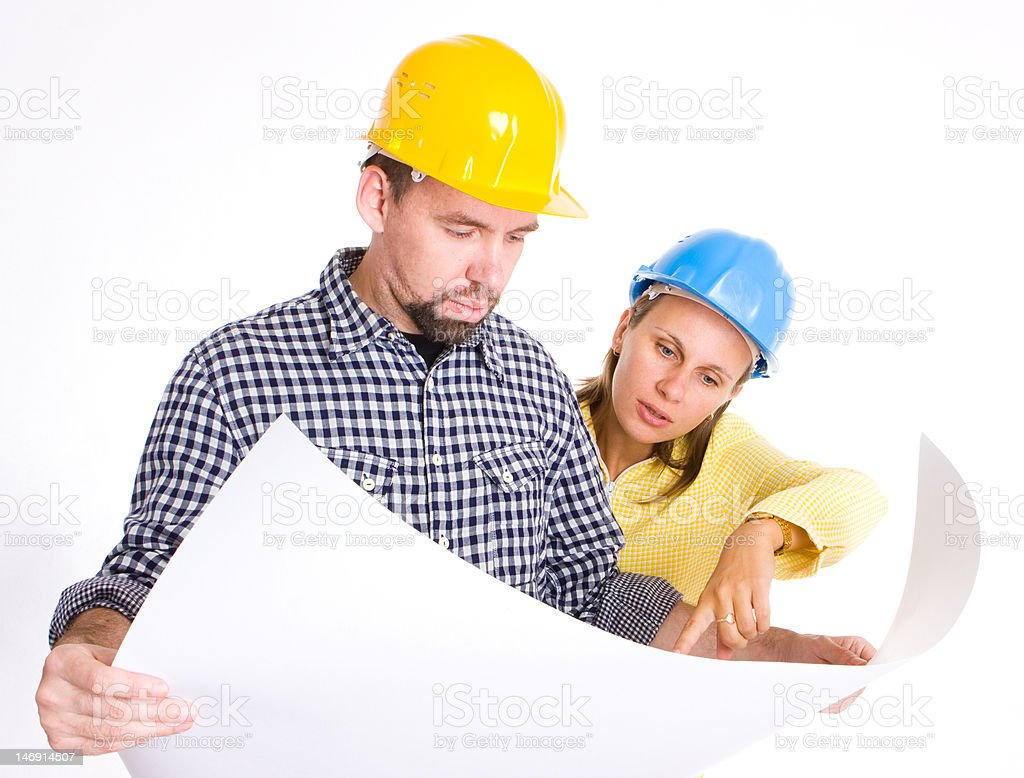 Two Architects royalty-free stock photo