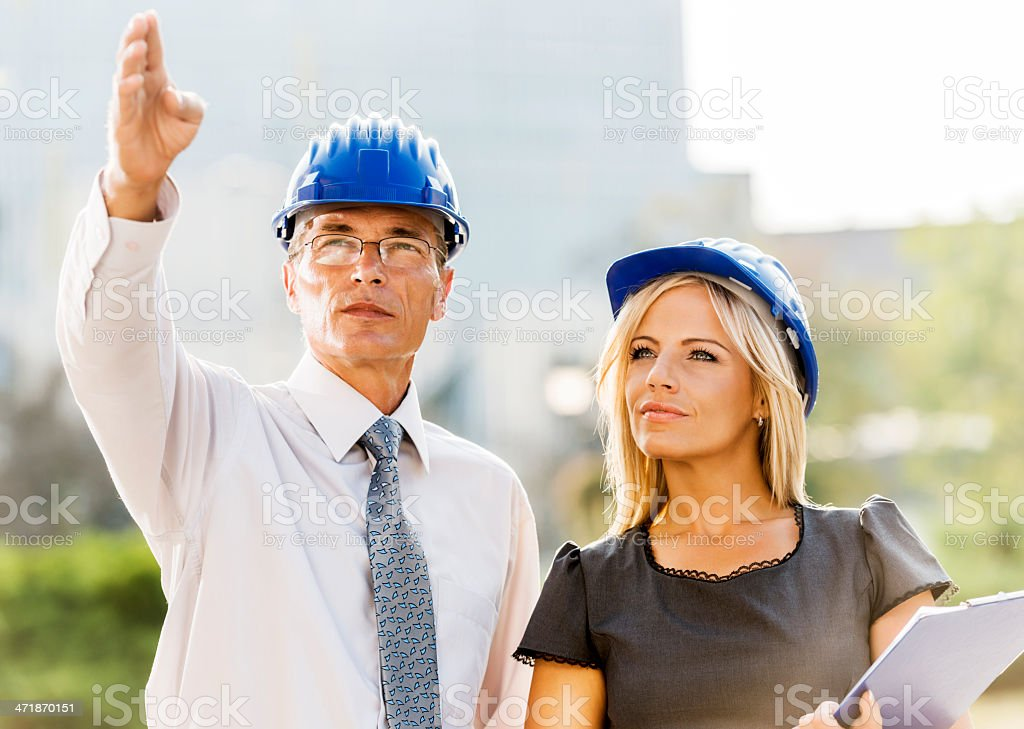 Two architects planning. royalty-free stock photo