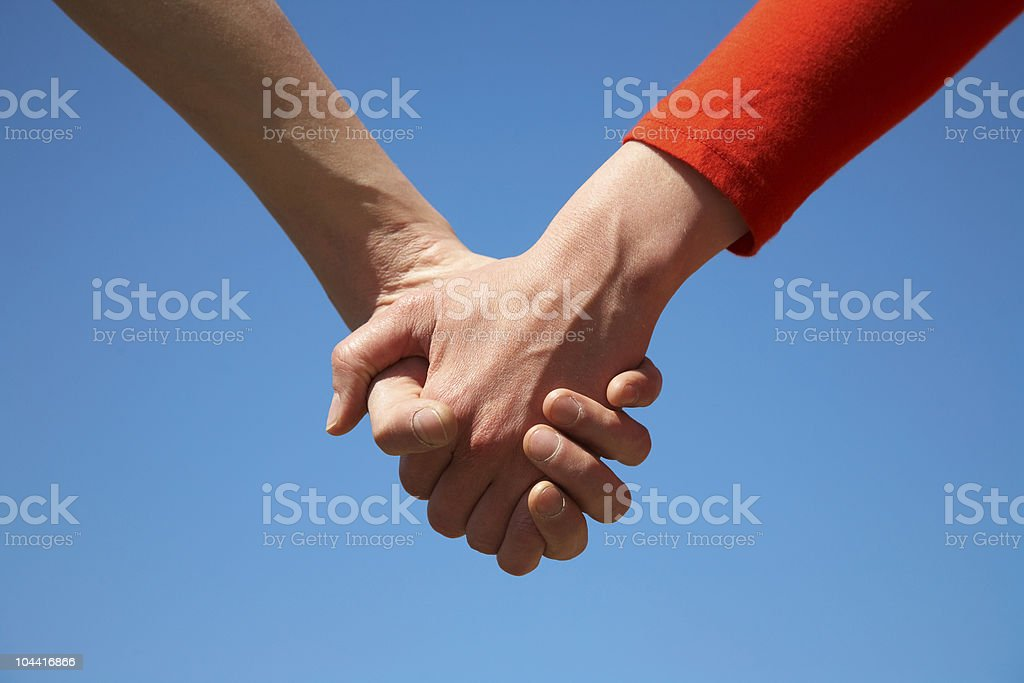 two arms together royalty-free stock photo