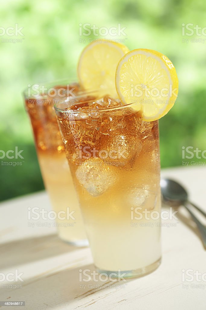 Two Arnold Palmers royalty-free stock photo