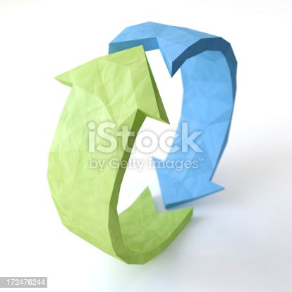 istock Two arrow signs. 172476244