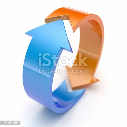 istock Two arrows. 184624682