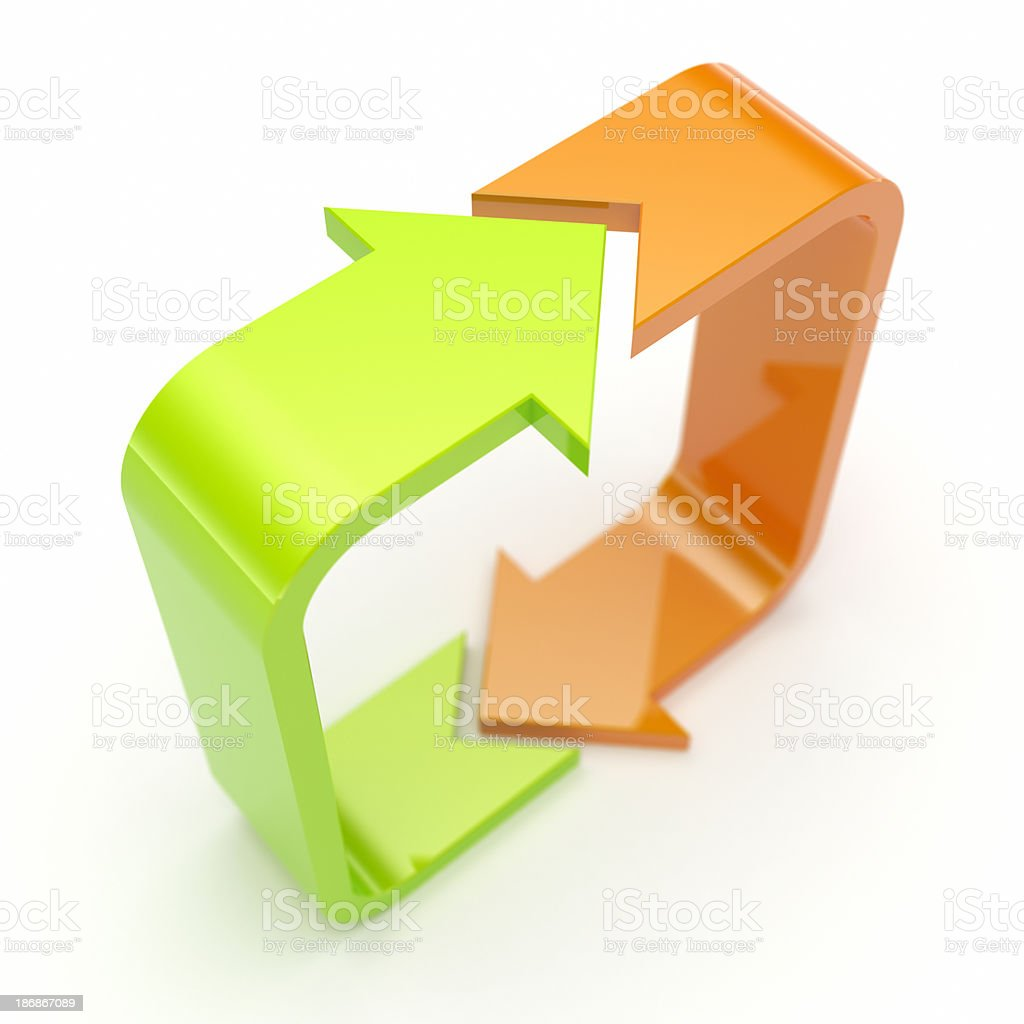 Two arrows. royalty-free stock photo
