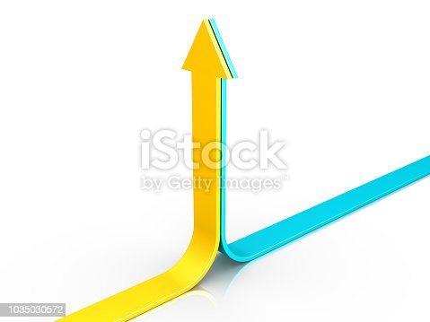 istock Two arrows pointing upwards 1035030572