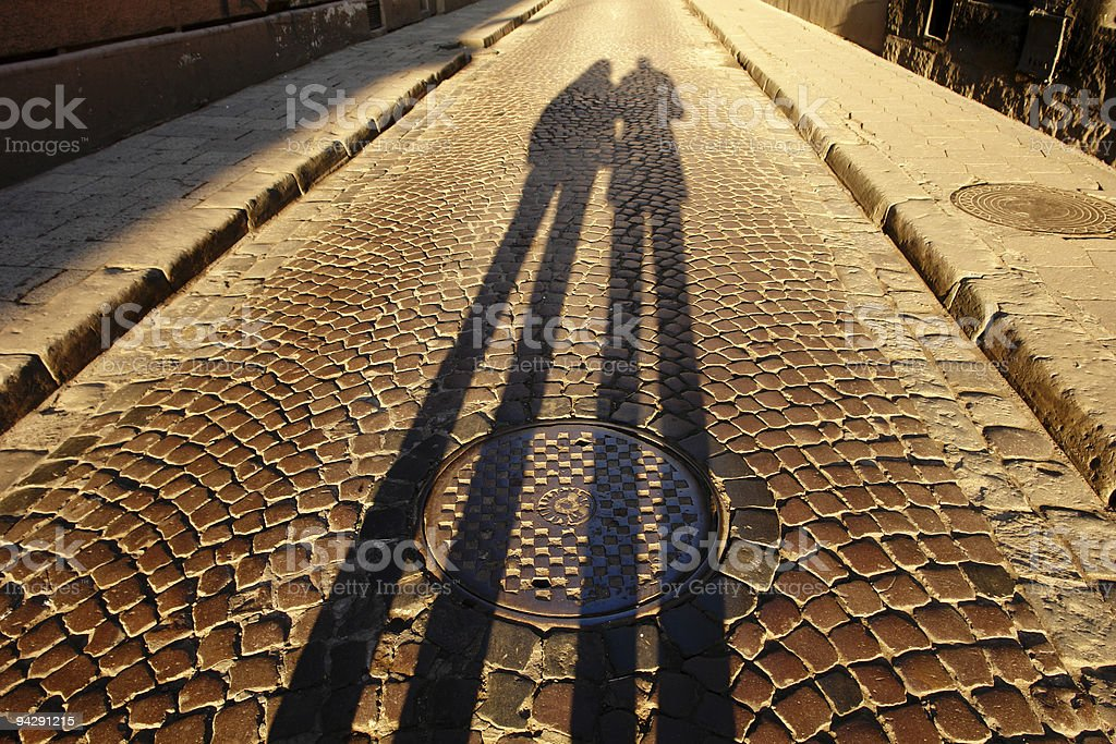 Two at the sunrise royalty-free stock photo