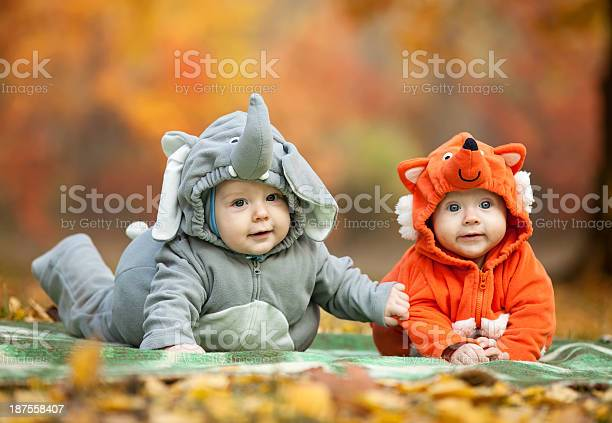 Two baby boys dressed in animal costumes picture id187558407?b=1&k=6&m=187558407&s=612x612&h=nshxb2bmnm3cycjpstc5o5mgf1fkosg2toandlmpdy0=