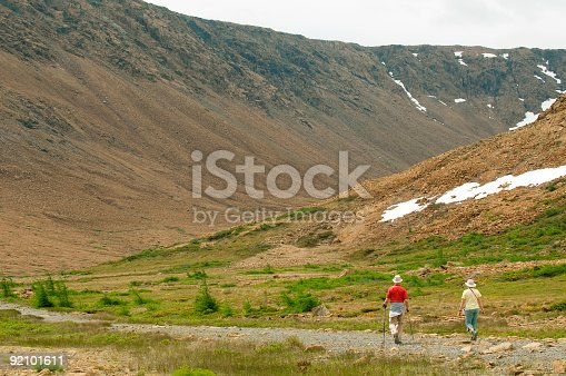 458694311 istock photo Two Baby-Boomers Hiking 92101611