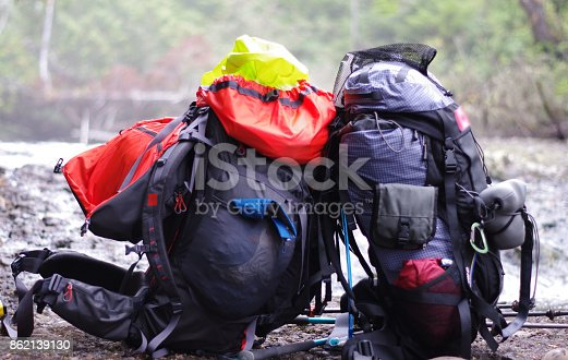 istock Two backpacks resting against one another 862139130