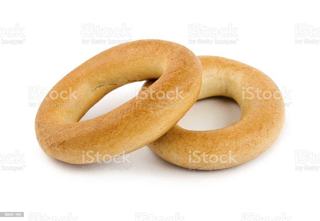 Two bagels isolated royalty-free stock photo