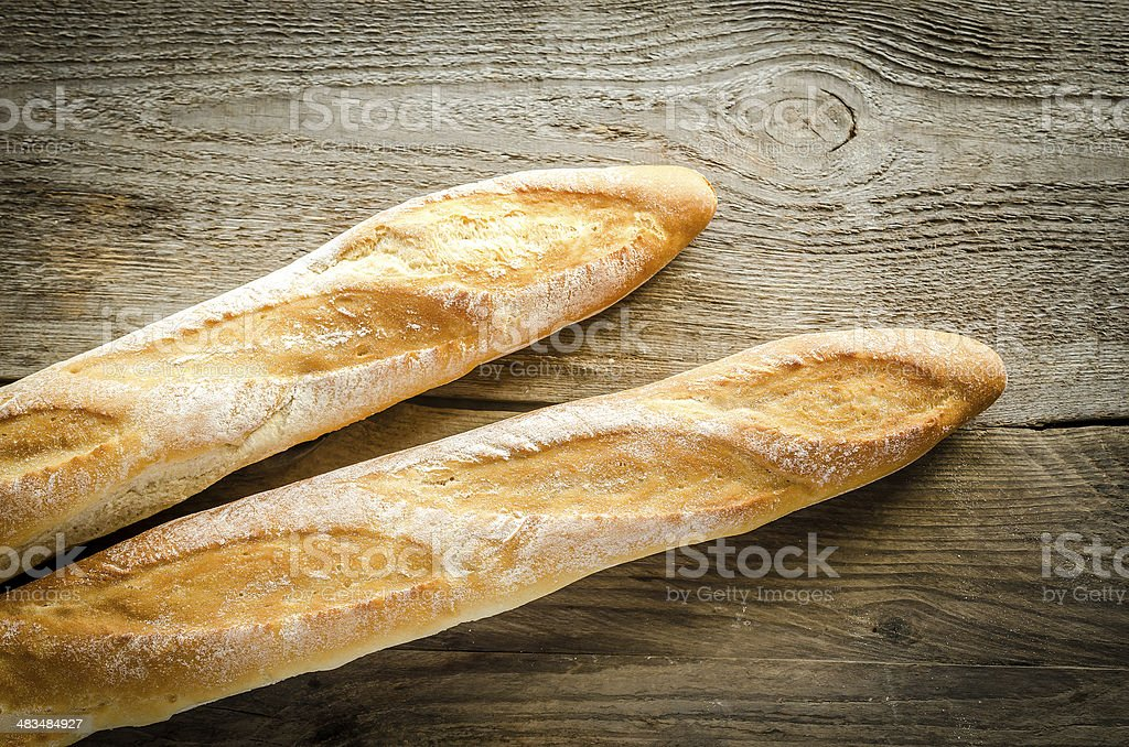Two baguettes stock photo