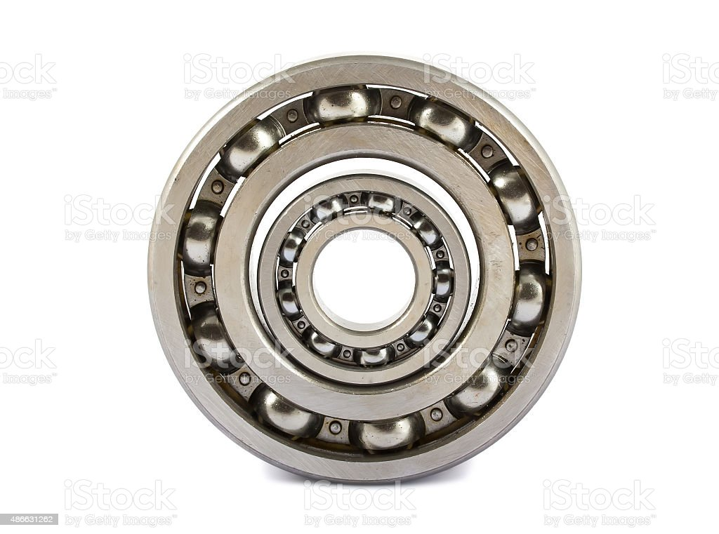 Two ball bearings stock photo
