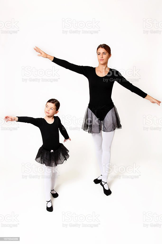 Two Ballet dancer royalty-free stock photo