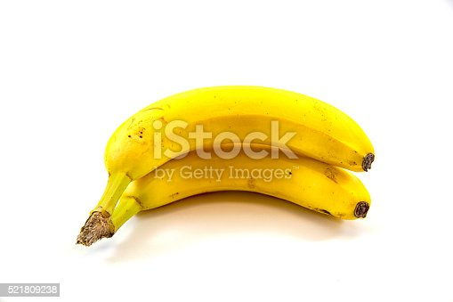 Two bananas isolated on white backgroundTwo bananas isolated on white background