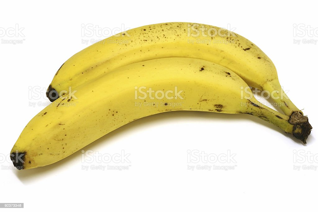 Two bananas royalty-free stock photo