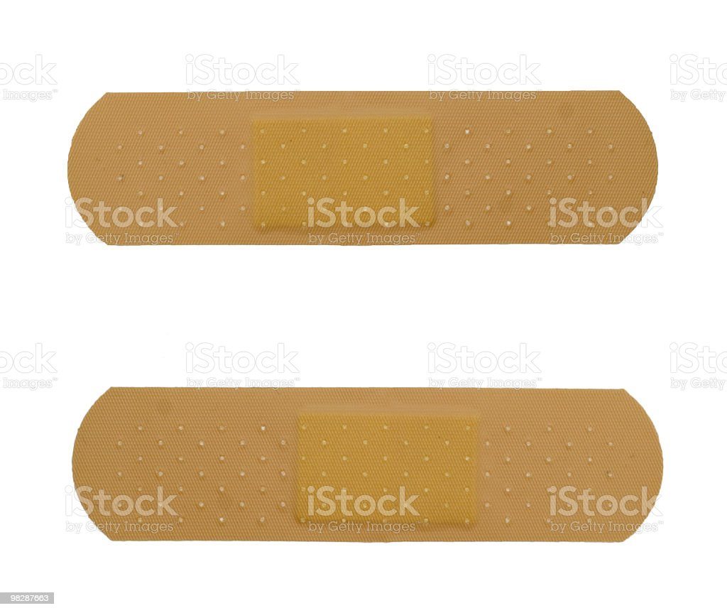 two bandaid royalty-free stock photo