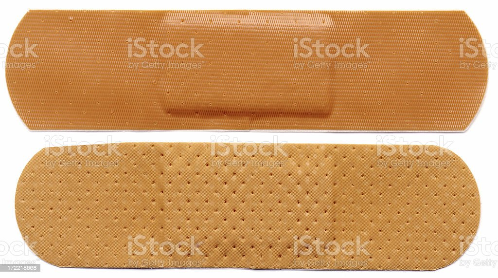 Two bandaids royalty-free stock photo