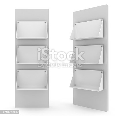 175439992istockphoto Two bank floor stands in white background 175439992